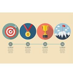 Sport winner concept infographic vector