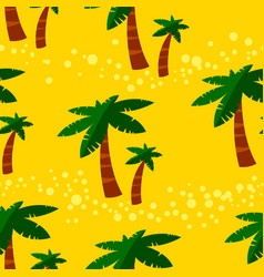 Summer seamless pattern with palms background vector