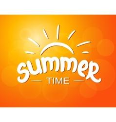 Summer time - typographic design vector