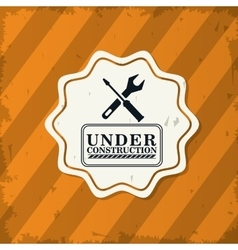 Under construction and repair design vector image