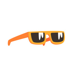 yellow sunglasses cartoon vector image