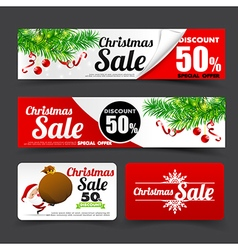 012 collection of merry christmas santa tag banner vector