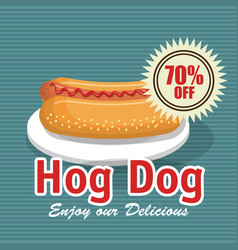 Fast food hog dog design isolated vector