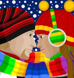 Winter love vector