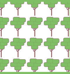 Tree ecology to preservation and care the vector