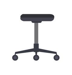 office chair furniture equipment comfort wheel vector image