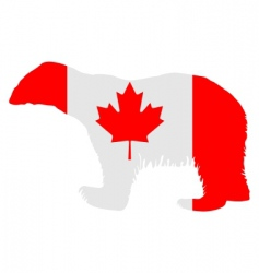 Canadian polar bear vector