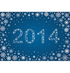 2014 title from snowflakes vector