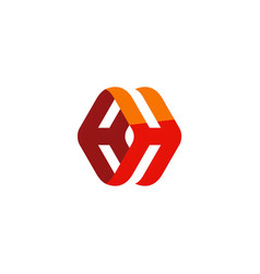 3d abstract technology logo vector image vector image