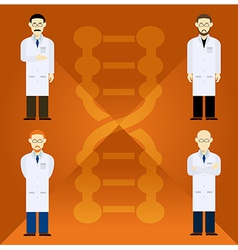 Scientists vector image