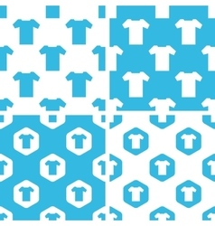 T-shirt patterns set vector