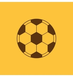 The football icon soccer symbol flat vector