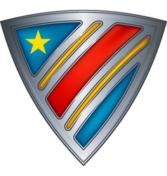 Steel shield with flag congo vector