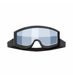 Military goggles icon cartoon style vector