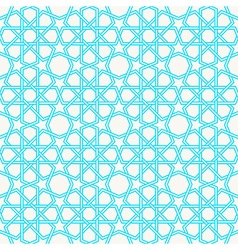 Arabesque islam geometric pattern seamless vector