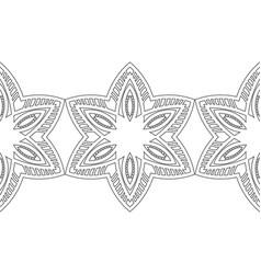 black and white snowflakes for coloring book vector image