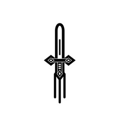 Black icon on white background ancient weapon vector