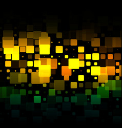 Brown orange green glowing rounded tiles vector