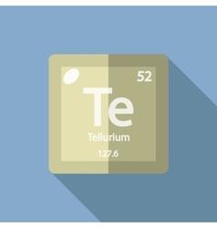 Chemical element tellurium flat vector