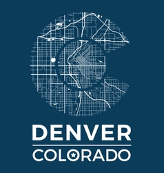 Colorado t shirt with denver city map vector