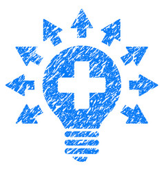 Disinfection lamp grunge icon vector