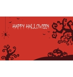 Halloween backgrounds pumpkins and dry tree vector