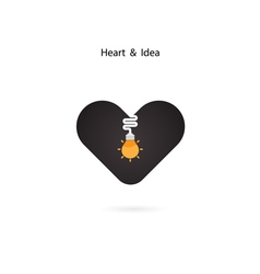 Heart sign and light bulb idea vector
