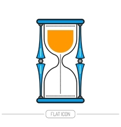 Hourglass Flat colored icon isolated on white vector image vector image
