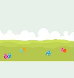landscape of egg on hill backgrounds vector image vector image