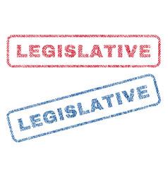 Legislative textile stamps vector