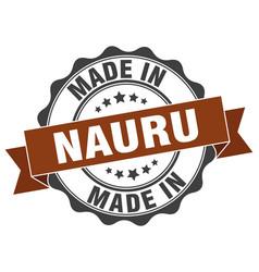 Made in nauru round seal vector