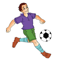 man playing soccer vector image