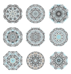 Mandalas collection hand drawn background vector