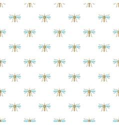 Mosquito pattern cartoon style vector
