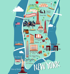 New york manhattan map vector