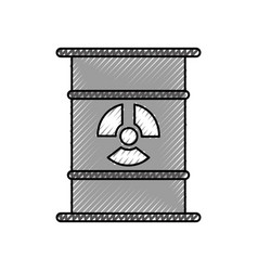 Nuclear barrel isolated icon vector