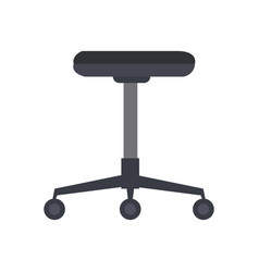 office chair furniture equipment comfort wheel vector image