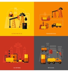Oil industry flat vector
