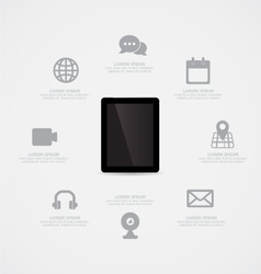 Tablet Information vector image vector image
