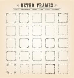 vintage old-fashioned frames vector image