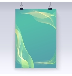 Wavy flowing poster template vector image vector image