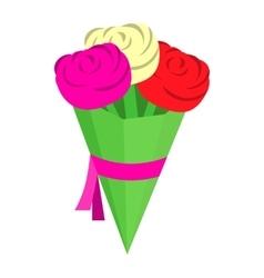 Wedding bouquet isometric 3d icon vector