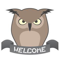 Welcome owl vector