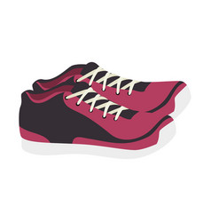 Running shoes isolated icon vector