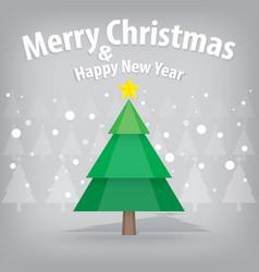 pine tree and snow theme merry christmas and vector image