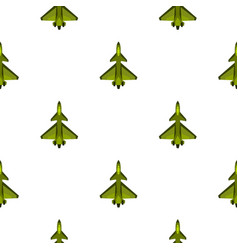 Military fighter jet pattern flat vector