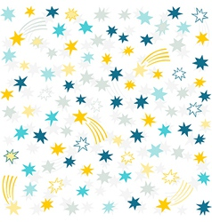 Shooting stars background vector