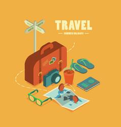 Travel summer holidays vector
