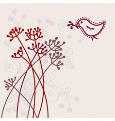 Card with bird vector