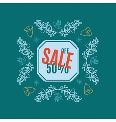 Bright Christmas sale banner vector image